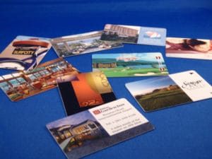 Magnetic key cards customized by Front Desk Supply